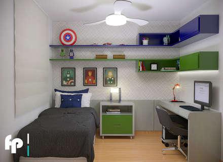 Apartamento Jovem Casal: Quarto infantil  por Flavia Peixoto Interiores