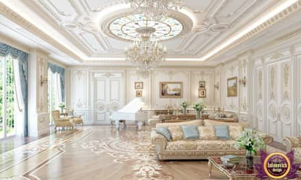 Houses Design in the classical style of Katrina Antonovich: classic Living room by Luxury Antonovich Design