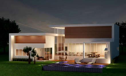 Projeto Residencial Itupeva: Casas modernas por AM arquitetura e interiores