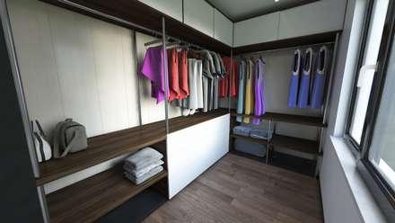 Meteor Mimarlık & Tasarım – RESIDENCE: modern tarz Giyinme Odası