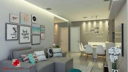 Projeto apartamento: Salas de estar modernas por Mais Arquitetura 34