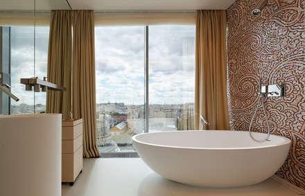 Апартаменты в ЖК Легенда Цветного: Ванные комнаты в . Автор – Elena Potemkina