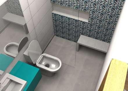 RENDER DISEÑO: Baños de estilo moderno por bdl concept/studio