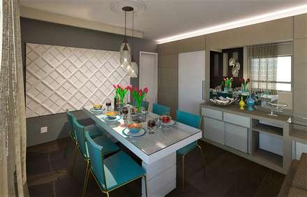 Decoração Apartamento L.B: Salas de jantar modernas por DTE Arquitetura