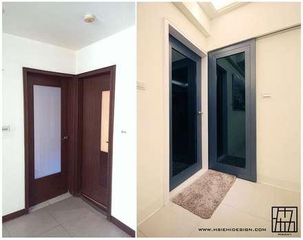 門片設計:  窗戶與門 by 協億室內設計有限公司