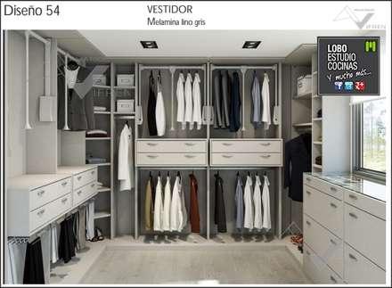 galeria vestidores de estilo moderno de milar lobo estudio cocinas - Vestidores Diseo