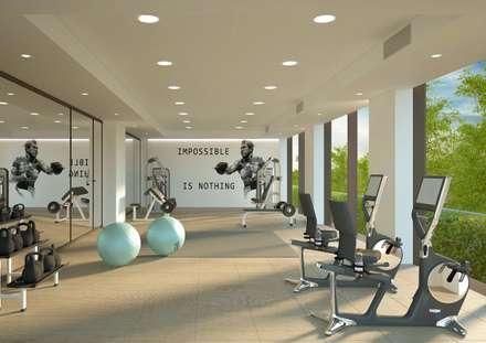 C-Building | palestra: Palestra in stile in stile Moderno di Studio Associato Casiraghi