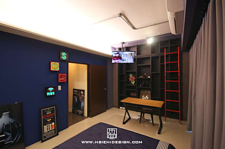 industrial Bedroom by 協億室內設計有限公司