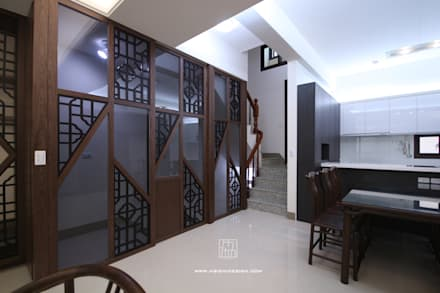 牆面造型:  牆壁與地板 by 協億室內設計有限公司