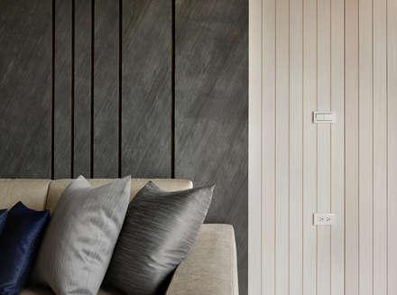 質感設計打造年輕人最愛現代風格:  牆壁與地板 by 拾雅客空間設計