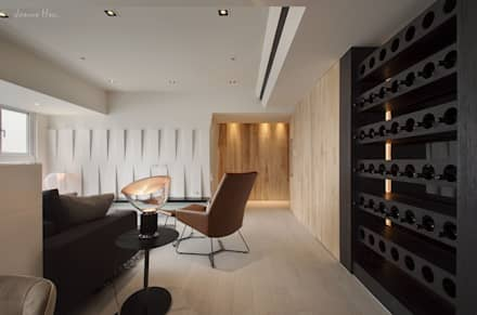 藏蘊-黑白琴鍵:  牆壁與地板 by 拾雅客空間設計