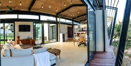 TREE HOUSE: industrial Living room by Studious Architects