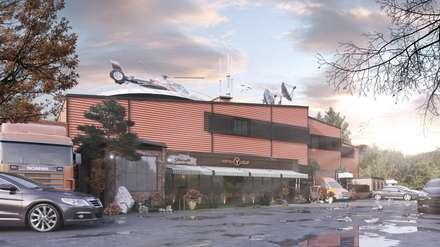 Edificios de oficinas de estilo  por Meteor Mimarlık & Tasarım
