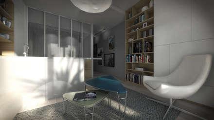 APPARTEMENT VARSOVIE: Salon de style de style Moderne par Magdalena Rondini-Gilli
