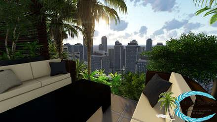 balcon veranda terrasse modernes homify. Black Bedroom Furniture Sets. Home Design Ideas
