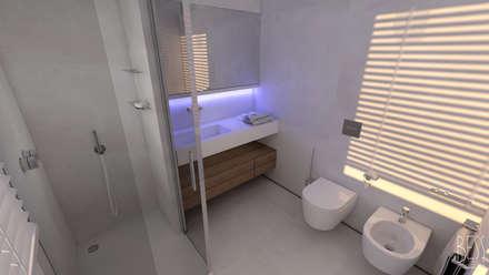 Ristrutturazione Appartamento: Bagno in stile in stile Minimalista di Studio Bianchi Architettura