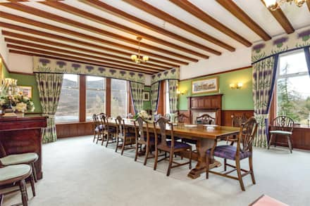 Hunting Lodge Dining Room : country Dining room by Fabrik Magik Interiors Ltd