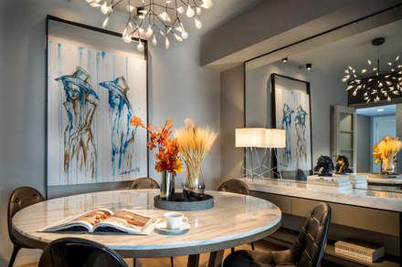 Ümit Okan Photography – Makyol Santral Örnek Daire: modern tarz Oturma Odası