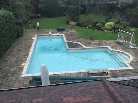 BEFORE Refurbishment: classic Pool by Tanby Swimming Pools