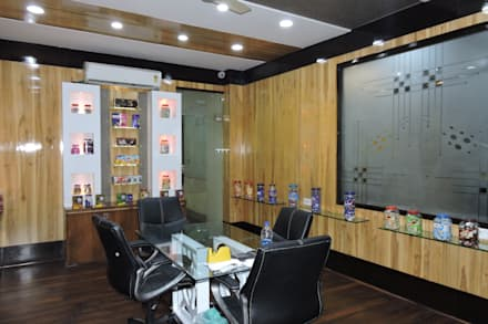 Office interior at Indore:  Office buildings by Gupta's associated architects