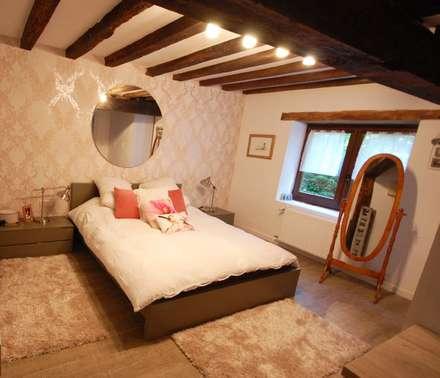Dormitorios de estilo rústico por Habitaka diseño y decoración