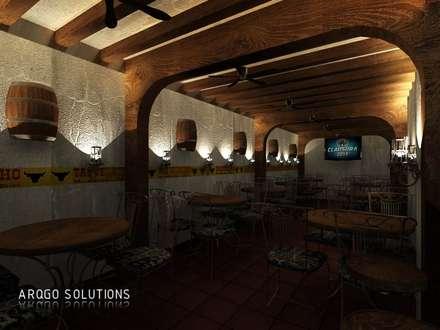 MESAS EN TAQUECACHO: Comedores de estilo rústico por ARQUITECTOS GO SOLUTIONS