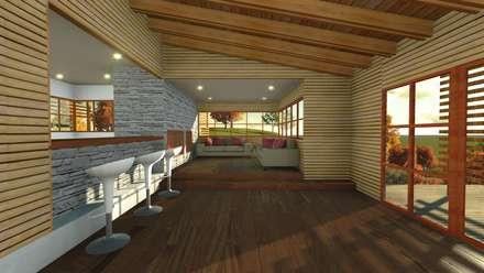 Casa en la Colina : Livings de estilo moderno por CA|Arquitectura