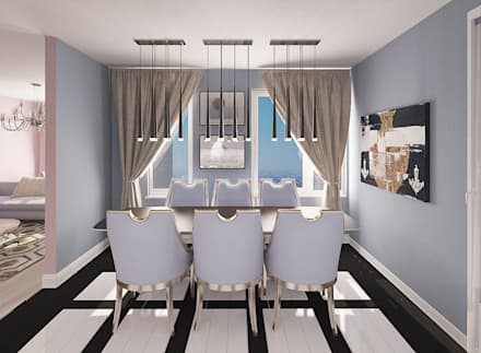 Квартира в ЖК Маяк Басаргина : Столовые комнаты в . Автор – Chloe Design & Decor/Anastasia Baskakova