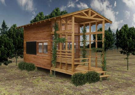 PRATIKIZ Mimarlık/ Architecture – Ahşap Ev : kırsal tarz tarz Evler