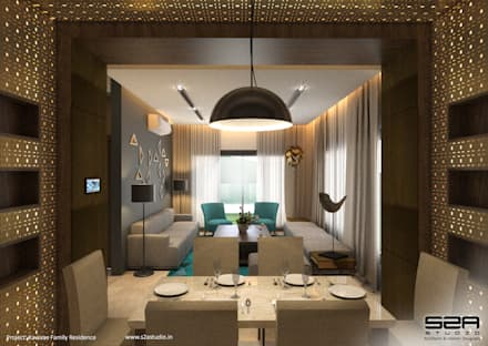 Residential Apartment : modern Dining room by S2A studio