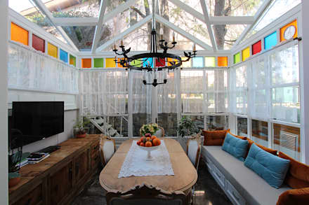 Country Side Villa Renovation: classic Conservatory by Orkun İndere Interiors