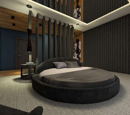 ABDULBALABEY TASARIM OFİSİ – YATAK ODASI: modern tarz Yatak Odası
