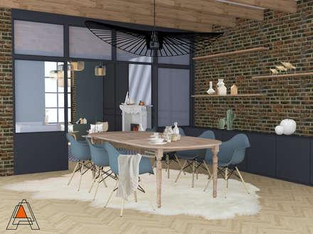 Espace salle à manger: Salle à manger de style de style Scandinave par Agence Adeline Allard