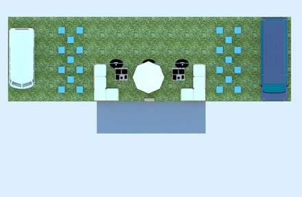 Vista superior do espaço: Jardins minimalistas por By CA