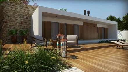 Casa em estilo contemporrâneo: Casas modernas por C. Schirmer Estúdio de Arquitetura e Urbanismo