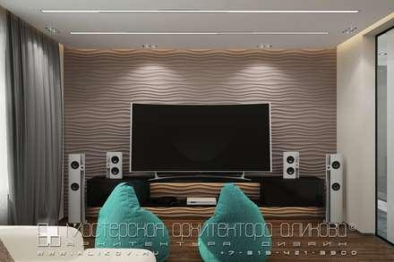 moderner Multimedia-Raum von Мастерская архитектора Аликова