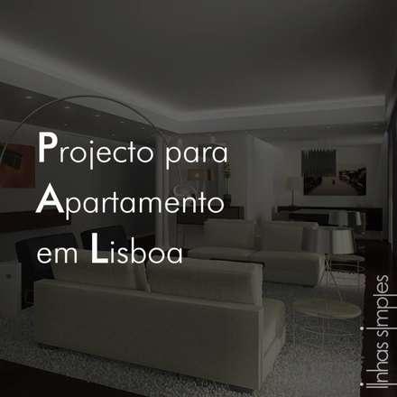 projecto para Remodelação de Apartamento / apartment Remodel Plan: Paredes  por Linhas Simples