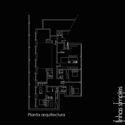 Projectado / planned: Paredes  por Linhas Simples
