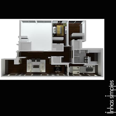 Planta geral / general layout: Paredes  por Linhas Simples