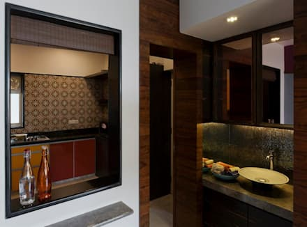 Mittal Residence, Colaba, Mumbai :  Corridor & hallway by Inscape Designers