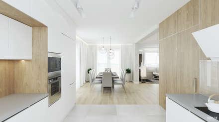 Projekt wnętrz domu jednorodzinnego w Gnojniku: styl , w kategorii Jadalnia zaprojektowany przez PRØJEKTYW | Architektura Wnętrz & Design