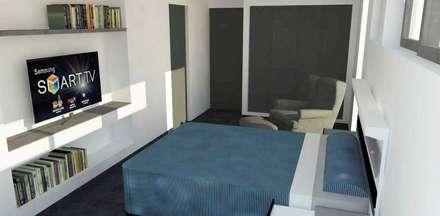 Dormitorio principal: Dormitorios de estilo moderno por mDM Arquitectura