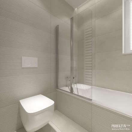 Projekt wnętrz domu jednorodzinnego w Piekarach: styl , w kategorii Łazienka zaprojektowany przez PRØJEKTYW | Architektura Wnętrz & Design