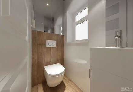 حمام تنفيذ PRØJEKTYW | Architektura Wnętrz & Design