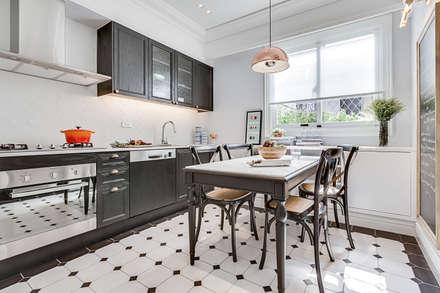 法式居所/ The French Charm:  廚房 by 爾聲空間設計有限公司