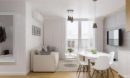 Projekt mieszkania. Kraków Nowe Czyżyny: styl , w kategorii Salon zaprojektowany przez PRØJEKTYW | Architektura Wnętrz & Design