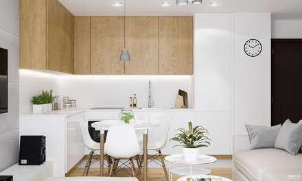 Cocinas de estilo escandinavo por PRØJEKTYW | Architektura Wnętrz & Design