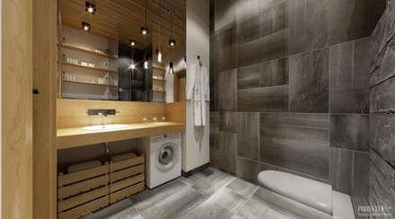 Projekt Apartamentu. Zakopane: styl , w kategorii Łazienka zaprojektowany przez PRØJEKTYW | Architektura Wnętrz & Design