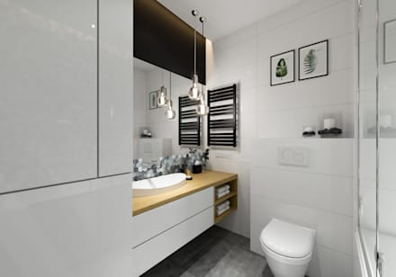 scandinavian Bathroom by PRØJEKTYW | Architektura Wnętrz & Design