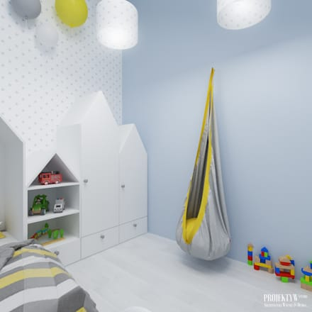 scandinavian Nursery/kid's room by PRØJEKTYW | Architektura Wnętrz & Design